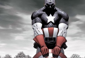 Captain America Holds His Shield