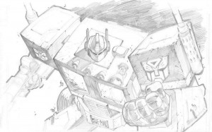 optimus prime sketch