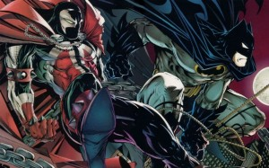 Spawn and Batman In the Sky