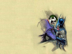The Joker Stabs Batman