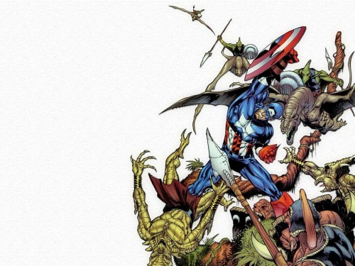 captain america vs reptile people 500x375 Captain America Vs Reptile People