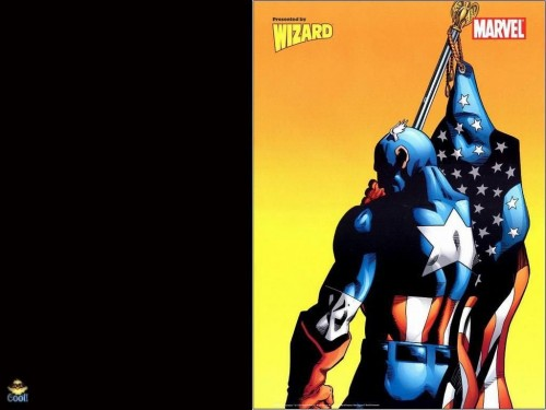 Captain America With Flag