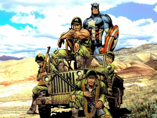 Captain America With Soldiers