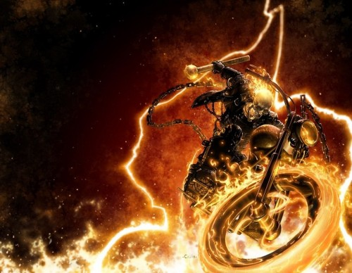 Ghost Rider In Flames
