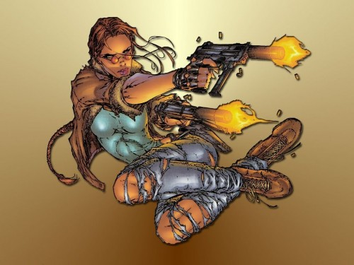 Lara Croft – Twin Guns Jumping