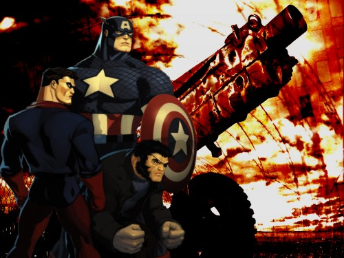 Captain America, Bucky and Wolverine SD