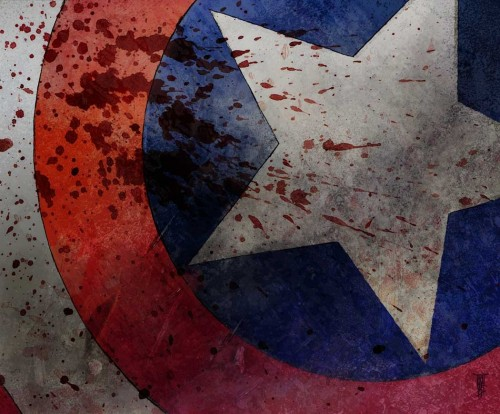 Captain America's Blood Splattered Shield