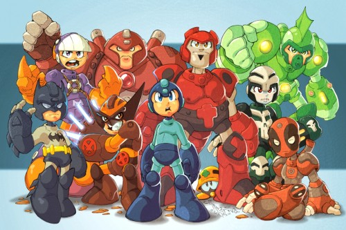 Mega Man and Assistants