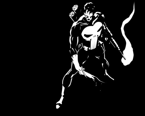 Punisher In Black and White