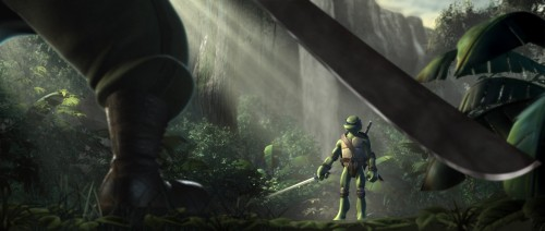 TMNT – leo in a fight