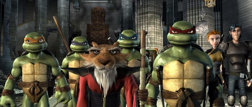 TMNT with splinter and casey