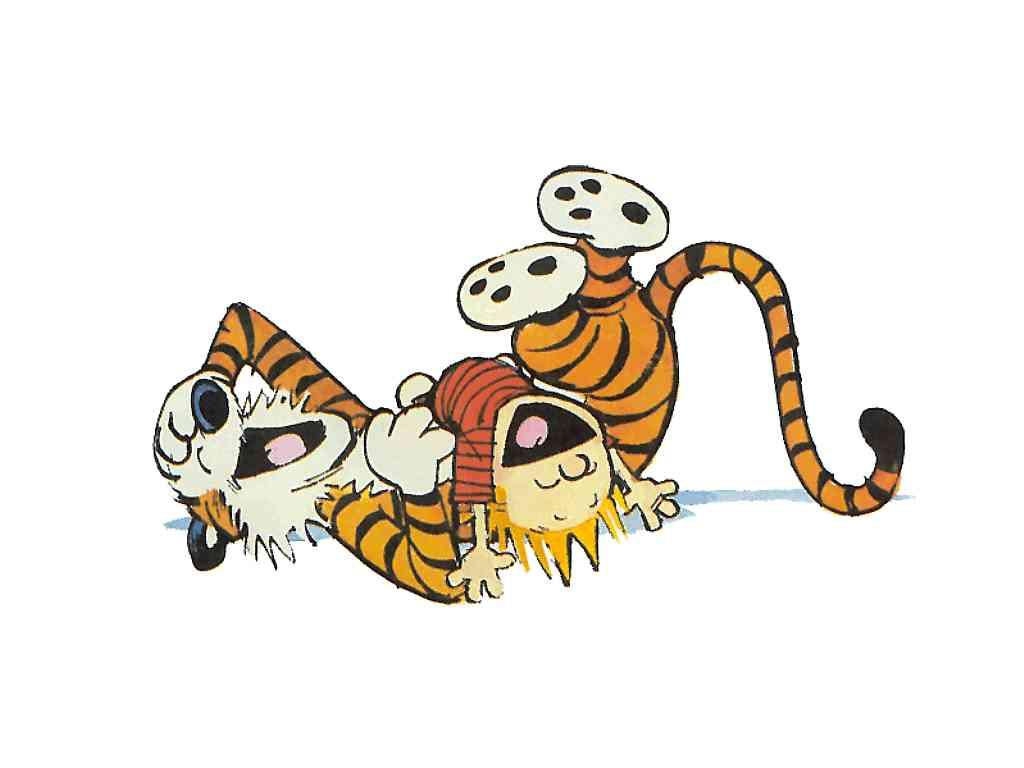 Image result for calvin and hobbes laughing