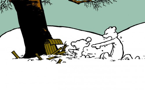calvin and hobbes – snow disaster