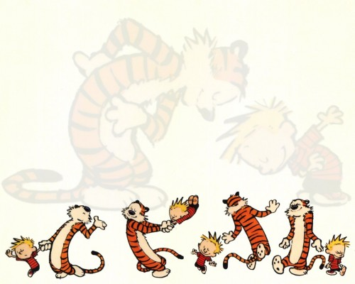 calvine and hobbes dance – wallpaper