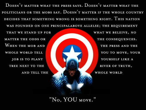 captain america – no you move