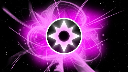 purple lantern logo in space 2