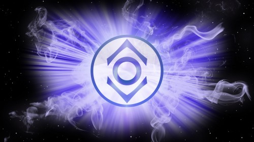 purple lantern logo in space