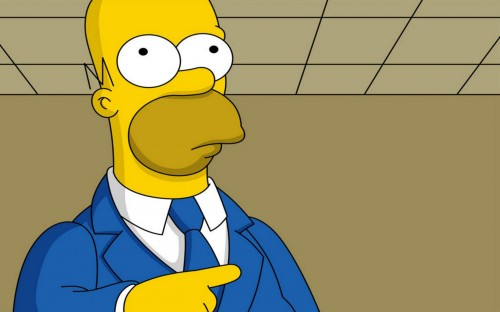 simpsons – homer points right