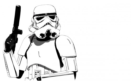 storm trooper on white