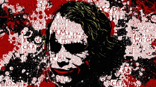 the joker- words