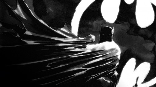 batman with bat light