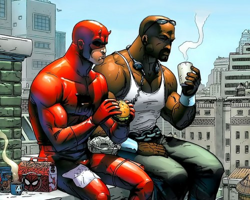 deadpool and luke cage have lunch