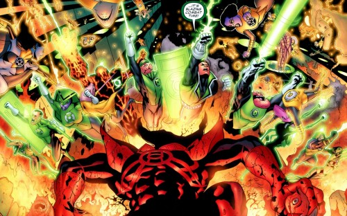 green lantern corps – blazing combat time