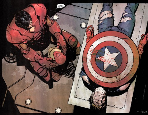 iron man view captain americas dead body