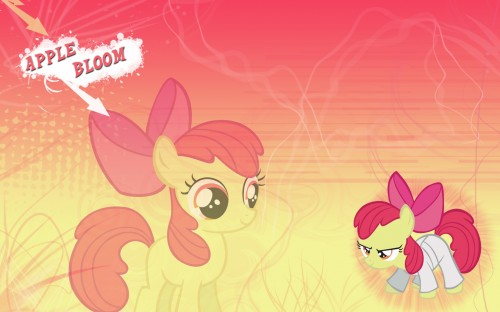 apple bloom in a karate outfit