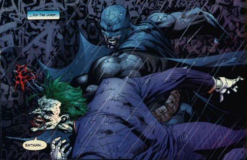 batman punches out the joker