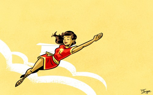 mary marvel in the sky