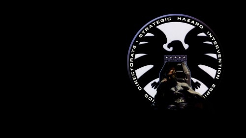 nick fury and shield logo