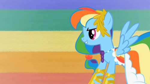 rainbow dash in her awesome outfit