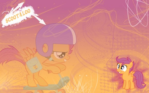 scootaloo on a scooter