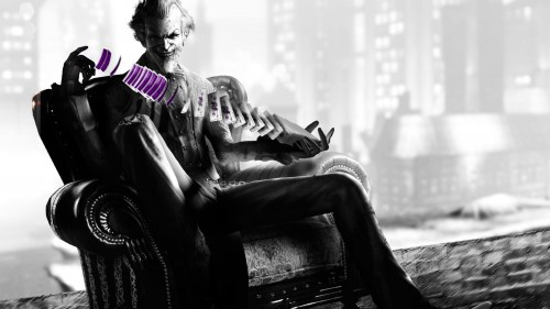Joker on his throne