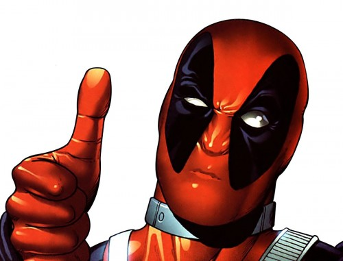 deadpool gives a thumbs up