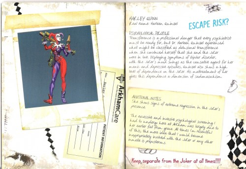 harley quinn fact sheet