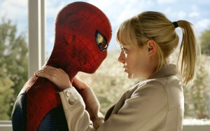 spider-man about to kiss