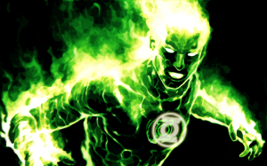Green Lantern is on fire.png