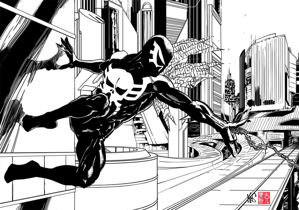 Spider man 2099 black and white zoom comics daily - Black and white spiderman wallpaper ...
