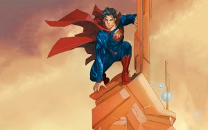 Superman on a tower