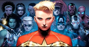Captain Marvel and her friends