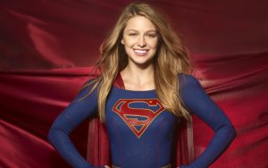 Supergirl is smiling