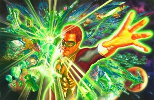 green lantern and friends