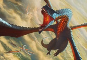 Fire Dragon with four wings