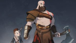 God of Wars 4 Cartoon Wallpaper