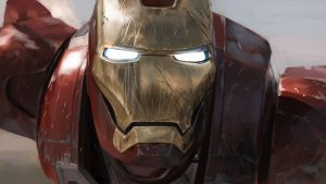 Iron man is all scratched up