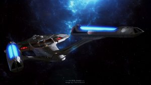 NCC-1701 from the rear