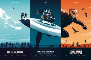 Sentinel of Liberty (Captain America Trilogy posters) by Rico Jr