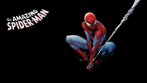 The Amazing Spider-man swings a web